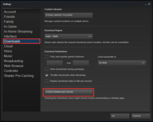 Solution No 3 - Clear Steam Download Cache